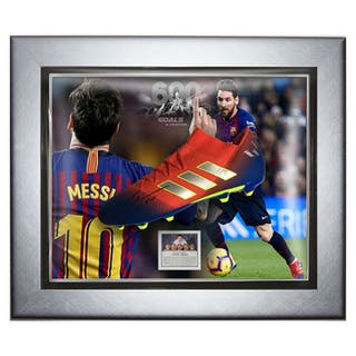9425d7ab67d Signed   Framed Barcelona - Lionel Messi - 2019 - Adidas Nemeziz Boot –  Current sales – Barnebys.com