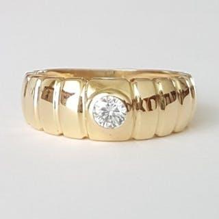 18 quilates Oro amarillo - Anillo - 0.20 ct Diamante