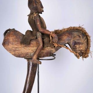 Equestrian Puppet - Wood - Bambara - Mali