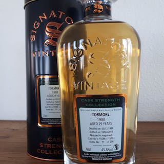 Tormore 1988 29 years old Cask Strength - Signatory Vintage - b. 2018 - 70 cl