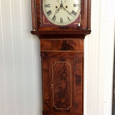 Longcase clock - Wood, Mahogany - Period 1870 - 1880