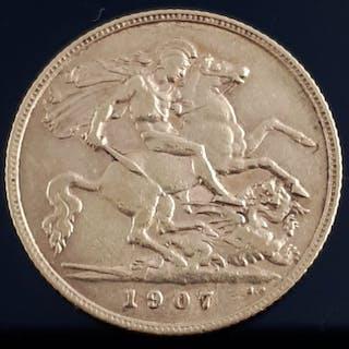 United Kingdom - ½ Sovereign 1907- Edward VII - Gold