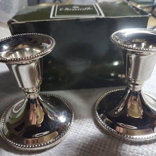"""bougeoir de table """"perles"""" christofle - Métal argenté..."""