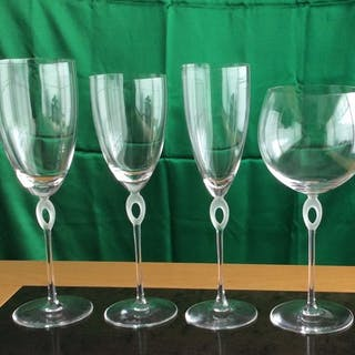 unique series of 28 Rosenthal glasses and 1 carafe, type Anastasia - Glass