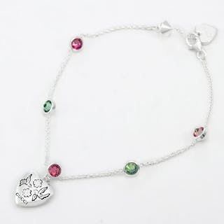 664d81f4b6b Gucci Silver - Blind for Love bracelet – Current sales – Barnebys.com