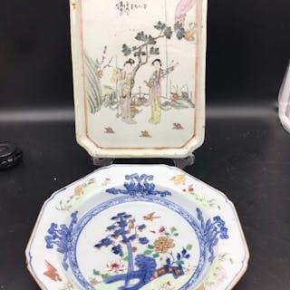 Lastre (2) - Porcellana - Cina - XIX secolo