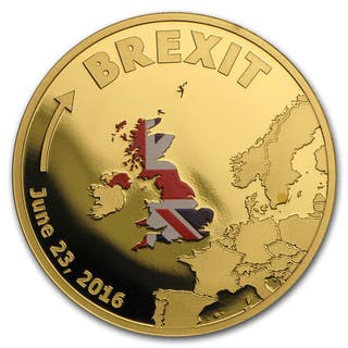 Cook Islands - 20 Dollars 2016 'Brexit UK'- 1/10oz. - Gold