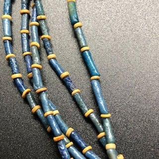Ancient Egyptian Faience Faience Mummy Bead Necklace