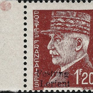 Deutschland - lokale Postgebiete 1944 - Festung Lorient Petain 1.20 francs