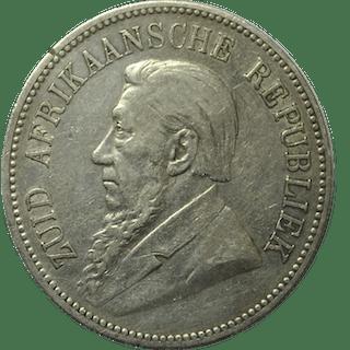 Afrique du Sud - 5 Shilling 1892 (Single shaft on wagon tongue)  - Argent
