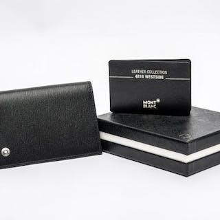 Montblanc - 38034 -Westside Black Leather Business Card Holder card holder