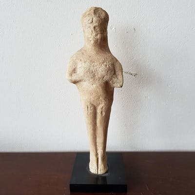 Middle Elamite Terracotta Statuette of Mother God - 15 9×5 5