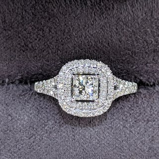 GIA - Diamonds Mine - 14 kt. White gold - Ring - 0.70 ct Diamond - Diamonds