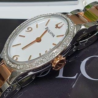 Bulova - luxury diamond gold plated and steellady watch- Women - 2019