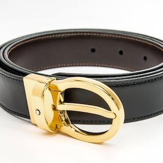 Montblanc - Black/brown Classic Reversible Leather Belt (Ref. 38579) Belt