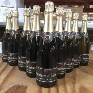 Christian Busin, Brut Tradition - Champagne - 12 Bouteilles (0,75 L)