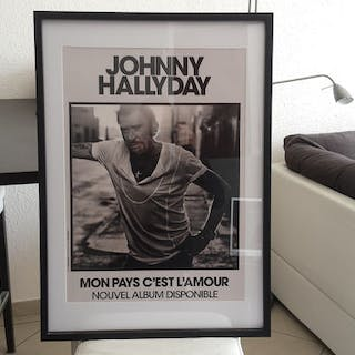 Johnny Halliday - my country is love - Affiche original    – Current