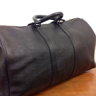 58804807fa37 Louis Vuitton - Keepall 50 Épi nero Travel bag – Current sales –  Barnebys.com