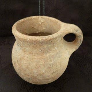Prähistorisch, Eisenzeit Töpferware Cup - 0×11×10 cm - (1)
