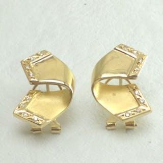 39b549cb4 18 kt. Yellow gold - Earrings - Diamond