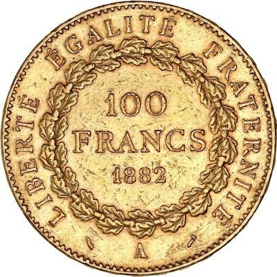 France - 100 Francs 1882-A Génie - Or