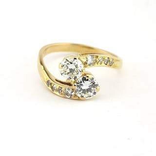 18 kt. Gold - Ring - 1.00 ct Diamond - Diamond