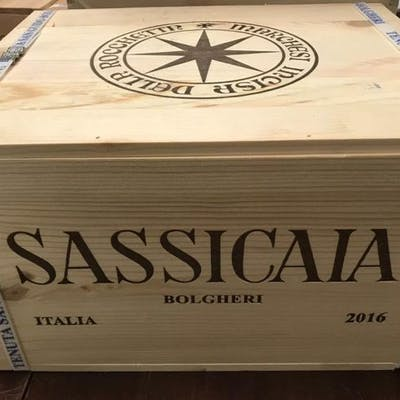 2016 Tenuta San Guido Sassicaia - Super Tuscans - 6 Bottles (0.75L)