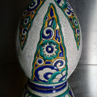 Charles Catteau - Boch Frères - Large Art Deco ceramic vase