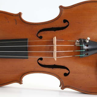 old italian violin labeled A. Bisiach - 4/4 - Violin - Italy - 1925
