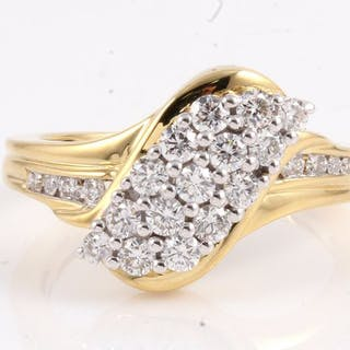 18 kt. Yellow gold - Ring - 0.80 ct Diamond
