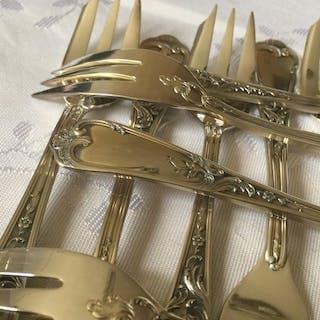 Ercuis - Fourchettes à desserts style Louis XV (12)...