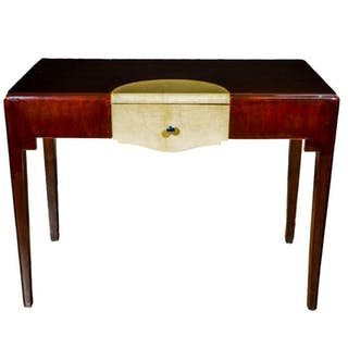 Desk, Writing table, Mahogany and Parchment