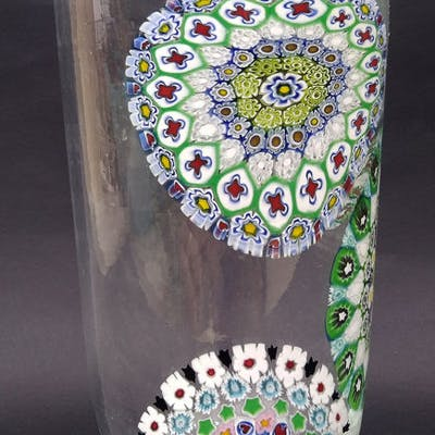 Vase With Millefiori Murrine Glass Stained Glass Barnebys