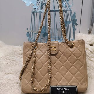 57fbb355cdff Chanel Vintage Skirt Box Pleat Hem No5 Buttons Heathered Brown 36 4 ...