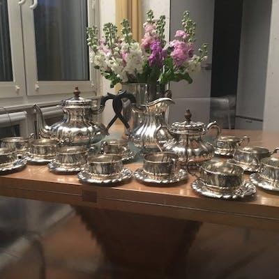 Teeservice (25) - .800 Silber - Österreich - Erste Hälfte des 20. Jahrhunderts