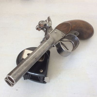 France - Défense - Double (side by side) - Percussions - Pistolet - 10mm Cal
