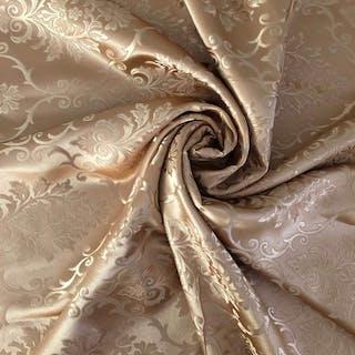 Mt 2.90 x 2.90 Elegante tessuto damascato in oro con...