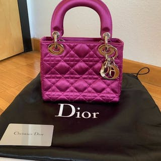 Christian Dior - Cannage Quilted Satin Mini Lady Dior Clutch bag