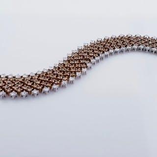 18 kt. Gold, Pink gold - Bracelet - 10.23 ct Diamond