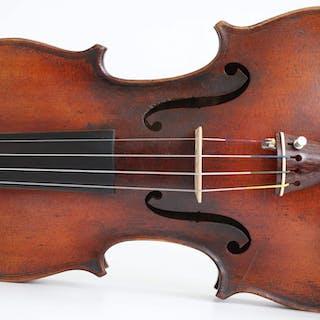 old violin labeled Pressenda - 4/4 - Violin - Italy - 1829