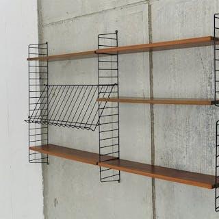 Nisse Strinning - String - Minimalist Teak wood wall system
