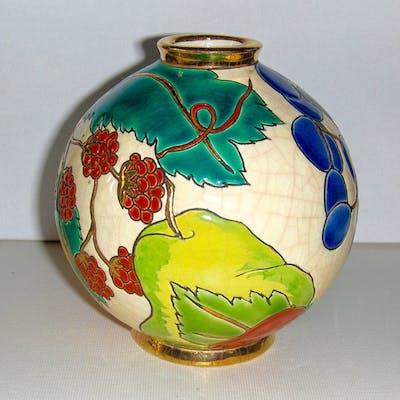 Émaux de Longwy - Vase boule en émaux cloisonnés  - Céramique
