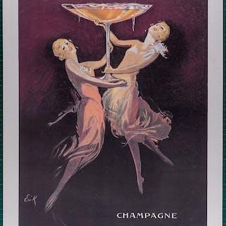 Erik - Champagne desaint Marceaux - Original c.1930 Lithograph Champagne poster