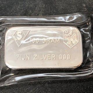 100 Gramm - Silber .999 - Schöne Edelmetaal B.V. - Seal