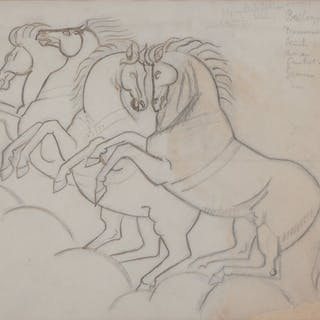 André Lhote (1885-1962) - Chevaux sauvages