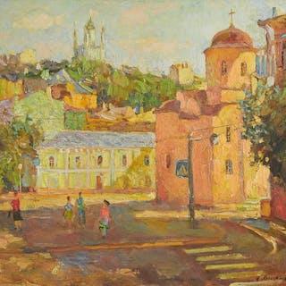 Aholukiha (XXe s.) - Ukraine, place animée sous le soleil