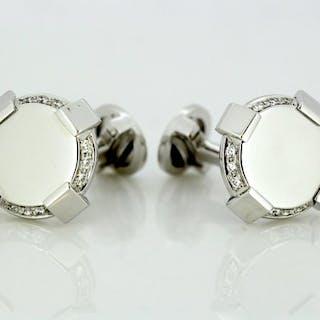 Versace - 18 kt. White gold - Cufflinks - Diamonds