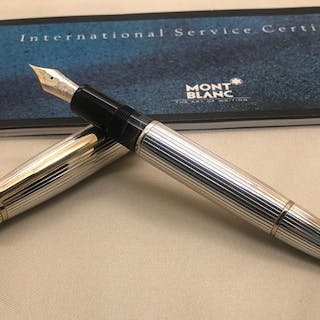 Montblanc - Le Grand N°146 Solitaire Pinstripe Sterling Silver Fountain Pen