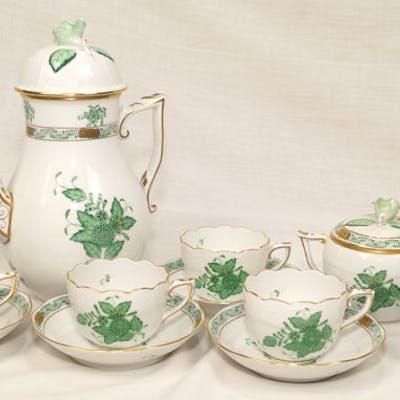 Apponyi verde - Herend - Servizio caffè X 4 - Porcellana