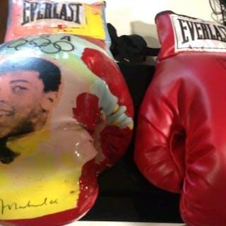 Boxeo, juegos olímpicos- Muhammad Aliy Steve Kaufman- Artwork, Boxing gloves